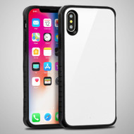 Scratch Proof Tempered Glass Tough Anti-Shock Hybrid Protection Case for iPhone XS / X - White