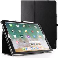 Leather Portfolio Smart Case for iPad Pro 12.9 inch (1st and 2nd Generation) - Black