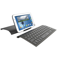 ZAGG ZAGGkeys Universal Compact Ergonomic Keyboard, Cover and Stand - Black