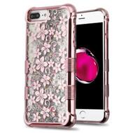 Tuff Lite Quicksand Glitter Electroplating Case for iPhone 8 Plus / 7 Plus / 6S Plus / 6 Plus - Hibiscus Rose Gold