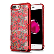 Tuff Lite Quicksand Glitter Electroplating Case for iPhone 8 Plus / 7 Plus / 6S Plus / 6 Plus - Hibiscus Red