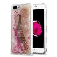 Tuff Lite Quicksand Glitter Transparent Case for iPhone 8 Plus / 7 Plus / 6S Plus / 6 Plus - Eiffel Tower