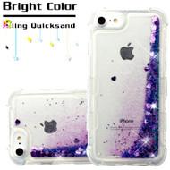 Tuff Lite Quicksand Glitter Transparent Case for iPhone 8 / 7 / 6S / 6 - Purple