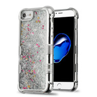 Tuff Lite Quicksand Glitter Electroplating Transparent Case for iPhone 8 / 7 / 6S / 6 - Silver