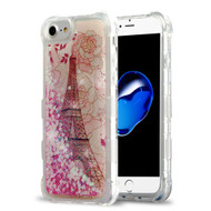 Tuff Lite Quicksand Glitter Transparent Case for iPhone 8 / 7 / 6S / 6 - Eiffel Tower