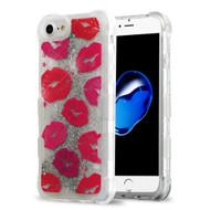 Tuff Lite Quicksand Glitter Transparent Case for iPhone 8 / 7 / 6S / 6 - Kisses