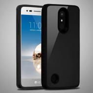 Scratch Proof Tempered Glass Tough Anti-Shock Hybrid Case for LG Aristo / Fortune / K8 (2017) / Phoenix 3 - Black