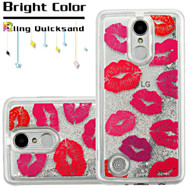 Quicksand Glitter Transparent Case for LG Aristo / Fortune / K8 2017 / Phoenix 3 - Kisses