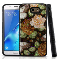 Tough Anti-Shock Triple Layer Hybrid Case for Samsung Galaxy J7 (2017) / J7 V / J7 Perx - Lucky Flower