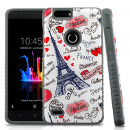 Tough Anti-Shock Triple Layer Hybrid Case for ZTE Blade Z Max - Eiffel Tower