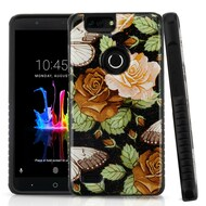 Tough Anti-Shock Triple Layer Hybrid Case for ZTE Blade Z Max - Lucky Flower
