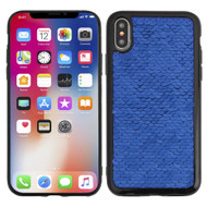 Two-Tone Sparkle Sequins Case for iPhone XS / X - Blue