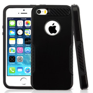 *Sale* Hybrid Armor Case with Carbon Fiber Accents for iPhone SE / 5S / 5 - Black