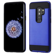 Brushed Coated Hybrid Armor Case for Samsung Galaxy S9 Plus - Blue