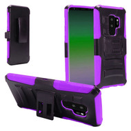 Advanced Armor Hybrid Kickstand Case with Holster for Samsung Galaxy S9 Plus - Black Purple