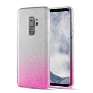 Full Glitter Hybrid Protective Case for Samsung Galaxy S9 Plus - Gradient Hot Pink