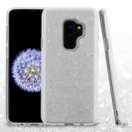 *Sale* Full Glitter Hybrid Protective Case for Samsung Galaxy S9 Plus - Silver