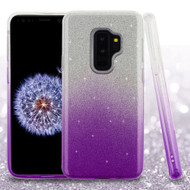 Full Glitter Hybrid Protective Case for Samsung Galaxy S9 Plus - Gradient Purple