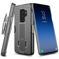 Kickstand Protective Case and Holster for Samsung Galaxy S9 Plus - Black