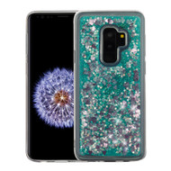 *Sale* Quicksand Glitter Transparent Case for Samsung Galaxy S9 Plus - Teal Green