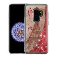 *Sale* Quicksand Glitter Transparent Case for Samsung Galaxy S9 Plus - Eiffel Tower