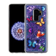 Quicksand Glitter Transparent Case for Samsung Galaxy S9 Plus - Butterfly Dancing