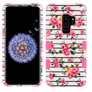 *Sale* Military Grade Certified TUFF Image Hybrid Armor Case for Samsung Galaxy S9 Plus - Pink Fresh Roses