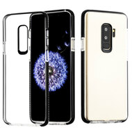 Crystal Clear Transparent TPU Case with Bumper Reinforcement for Samsung Galaxy S9 Plus - Black