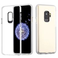 Crystal Clear Transparent TPU Case with Bumper Reinforcement for Samsung Galaxy S9 - White