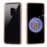 Ultra Hybrid Shock Absorbent Crystal Case for Samsung Galaxy S9 - Rose Gold