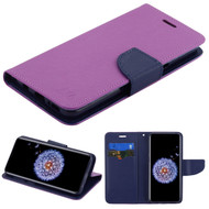 Diary Leather Wallet Case for Samsung Galaxy S9 - Purple