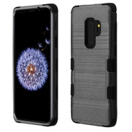 Military Grade Certified Brushed TUFF Hybrid Armor Case for Samsung Galaxy S9 Plus - Black