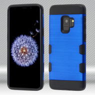 Military Grade Certified TUFF Trooper Dual Layer Hybrid Armor Case for Samsung Galaxy S9 - Blue