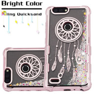 Tuff Lite Quicksand Glitter Electroplating Transparent Case for ZTE Blade Z Max - Dreamcatcher