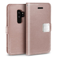 Essential Leather Wallet Case for Samsung Galaxy S9 Plus - Rose Gold