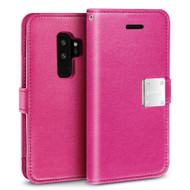 Essential Leather Wallet Case for Samsung Galaxy S9 Plus - Hot Pink