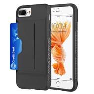 Exec Hybrid Case with Card Holder Compartment for iPhone 8 Plus / 7 Plus / 6S Plus / 6 Plus - Black