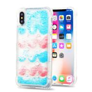 Tuff Aqua Lava Transparent Case for iPhone XS / X - Semicircle Partition
