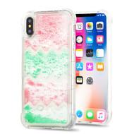 *Sale* Tuff Aqua Lava Transparent Case for iPhone XS / X - Chevron Partition