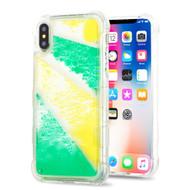 *Sale* Tuff Aqua Lava Transparent Case for iPhone XS / X - Diagonal Partition
