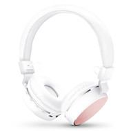 HyperGear V60 Metal Bluetooth V4.1 Wireless Headphones - White Pink