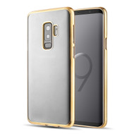 *Sale* Skyfall Electroplating Clear Transparent TPU Soft Case for Samsung Galaxy S9 Plus - Gold