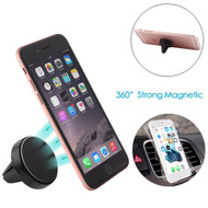 Aluminum Magnetic Car Air Vent Mount Holder - Black