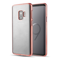 *Sale* Skyfall Electroplating Clear Transparent TPU Soft Case for Samsung Galaxy S9 - Rose Gold