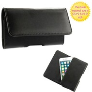 Universal Magnetic Leather Folio Hip Phone Case - Black