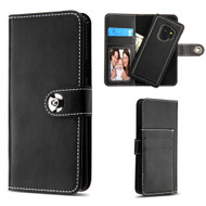*SALE* 2-IN-1 Premium Leather Wallet with Removable Magnetic Case for Samsung Galaxy S9 - Black