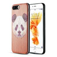 Art Pop Series 3D Embossed Printing Hybrid Case for iPhone 8 Plus / 7 Plus - Panda