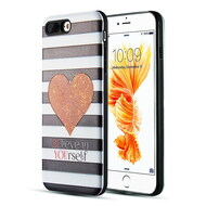 Art Pop Series 3D Embossed Printing Hybrid Case for iPhone 8 Plus / 7 Plus - Heart