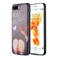 Art Pop Series 3D Embossed Printing Hybrid Case for iPhone 8 Plus / 7 Plus - Kiss My Ass