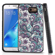 Tough Anti-Shock Triple Layer Hybrid Case for Samsung Galaxy J7 (2017) / J7 V / J7 Perx - Persian Paisley